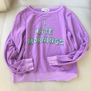 WILDFOX PULLOVER PURPLE I hate mornings small